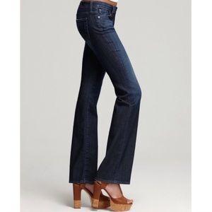 AG the Jessie curvy boot cut dark wash flare jeans